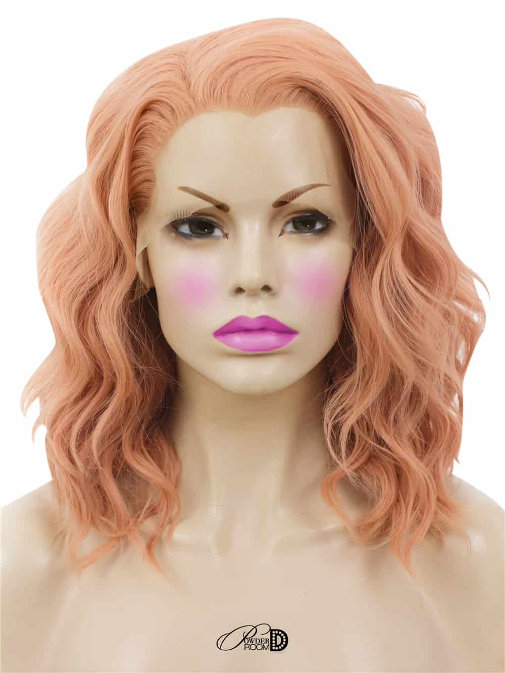 apricot lace front wig powder room d