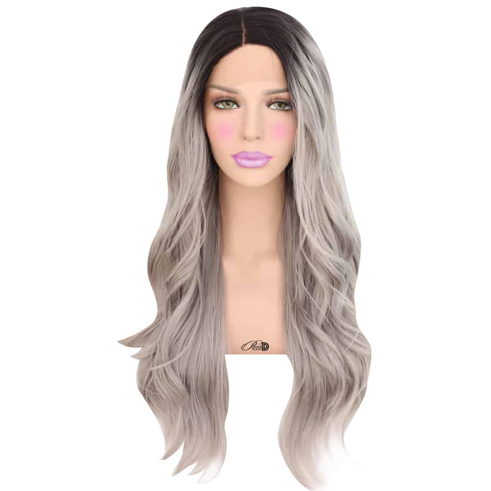 Midnight Ice Lace Front Wig Powder Room D